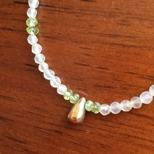 Satya green stone necklace